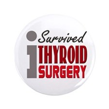 "Thyroid Surgery Survivor 3.5"" Button"