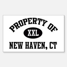 Property of New Haven Rectangle Decal