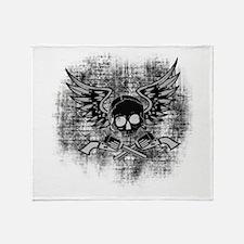 Skull and Guns Throw Blanket