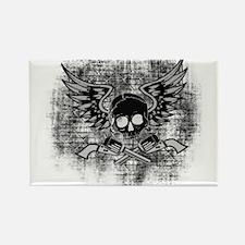 Skull and Guns Rectangle Magnet (100 pack)