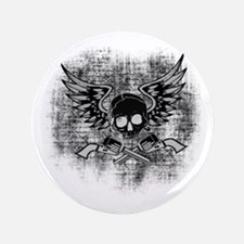 "Skull and Guns 3.5"" Button"