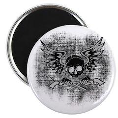 """Skull and Guns 2.25"""" Magnet (10 pack)"""