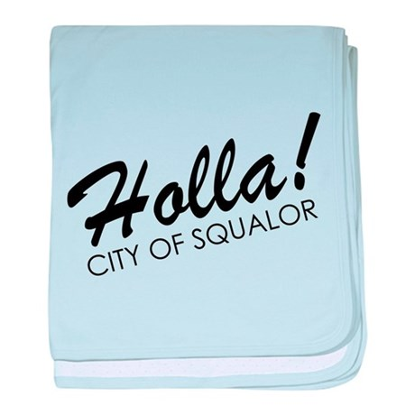 Holla! City of Squalor baby blanket