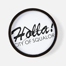 Holla! City of Squalor Wall Clock