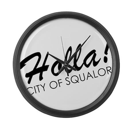 Holla! City of Squalor Large Wall Clock