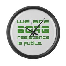Star Trek - We are BORG green Large Wall Clock