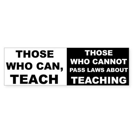 teachingstickerr Bumper Sticker