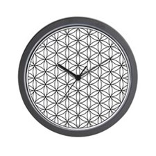 Wall clock with Flower of Life