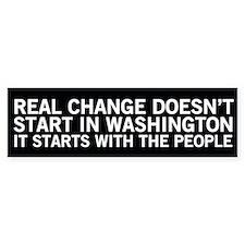 Real Change - Conservative Bumper Bumper Sticker