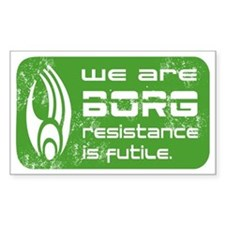 Star Trek - We are BORG green Decal