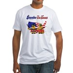Remember the Heroes Firemand  Fitted T-Shirt