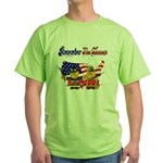 Remember the Heroes Firemand  Green T-Shirt
