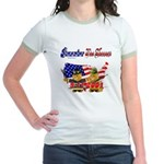 Remember the Heroes Firemand  Jr. Ringer T-Shirt