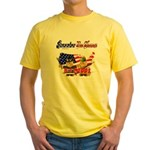 Remember the Heroes Firemand  Yellow T-Shirt