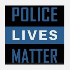 POLICE LIVES MATTER Tile Coaster