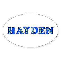 Hayden Sticker (Oval 50 pk)