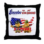 Remember the Heroes Firemand  Throw Pillow