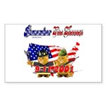 Remember the Heroes Firemand Sticker (Rectangular