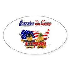 Remember the Heroes Firemand Oval Decal