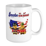 Remember the Heroes Firemand  Large Mug