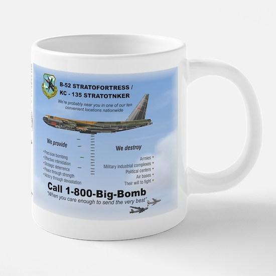 B-52 Statofortress dropping 20 oz Ceramic Mega Mug