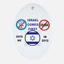 NO OBAMA 2012 Ornament (Oval)