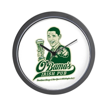 Obama's Irish Pub Wall Clock