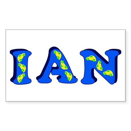 Ian Sticker (Rectangle)