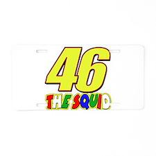 46 Squid Aluminum License Plate