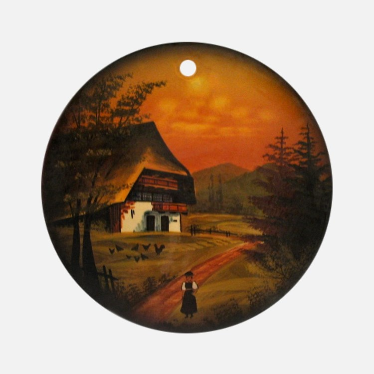 Black Forest Ornament (Round)
