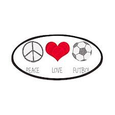 Peace Love Futbol Patches
