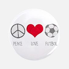 "Peace Love Futbol 3.5"" Button (100 pack)"