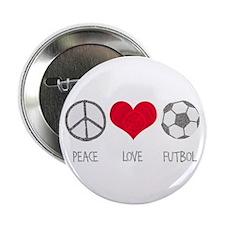 "Peace Love Futbol 2.25"" Button (10 pack)"