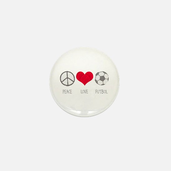 Peace Love Futbol Mini Button