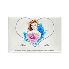 Rose Fairy Rectangle Magnet