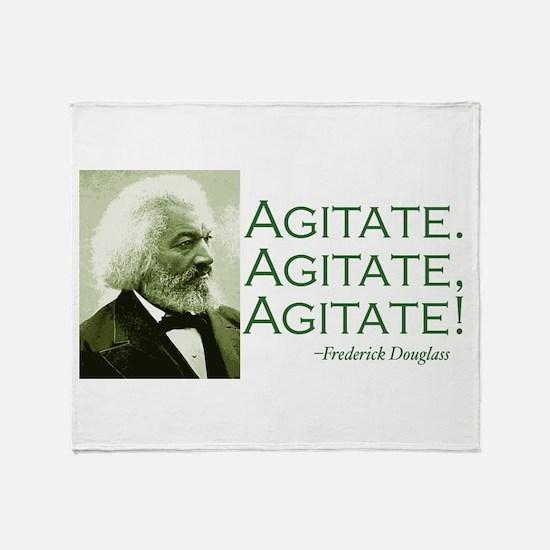 """Frederick Douglass """"Agitate!"""" Throw Blanket"""