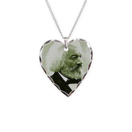 Frederick Douglass Necklace Heart Charm