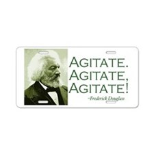 "Frederick Douglass ""Agitate!"" Aluminum License Pla"