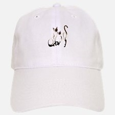 Two Siamese Cats Baseball Baseball Cap