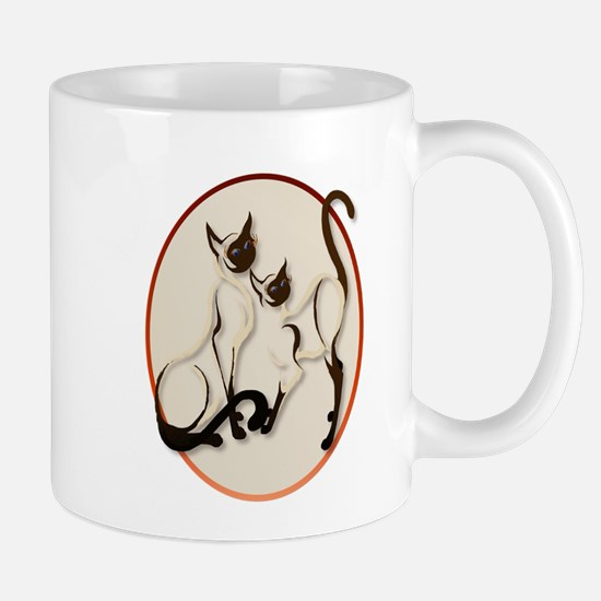 Two Siamese Cats Mug