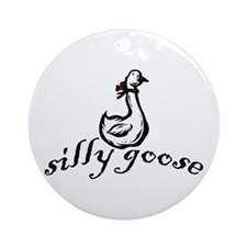 Silly Goose Ornament (Round)