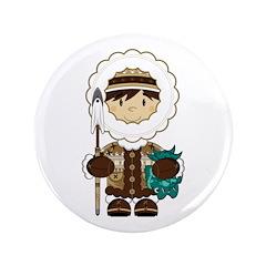 "Cute Inuit Fisherman 3.5"" Button"