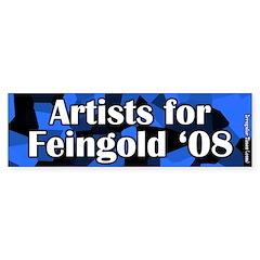 Artists for Russ Feingold 2008 Bumper Sticker