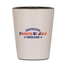 Official Fourth Of July Griller Shot Glass