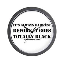 It's Always Darkest Wall Clock