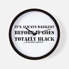 It's Always Darkest Wall Clock
