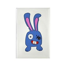 Mad Bunny Rectangle Magnet