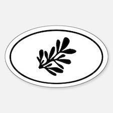 Lietuva Lithuanian Rue Sticker (Oval)