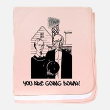 Very Funny Bowling baby blanket