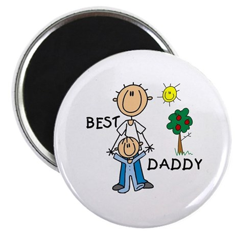 """Best Daddy With Son 2.25"""" Magnet (100 pack)"""